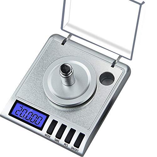Precisión: 0.001 g, Tipo: Balanza de laboratorio, Capacidad: 50 g, Tamaño: 99 * 88 * 27 mm  Tipo de pantalla: LCD, Número de modelo: CL-50G, Fuente de alimentación: 2 * AAA (no incluida)  Carga nominal: Otro, color: astilla como imagen, capacidad: 50...