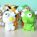 kimberleystore erhöhte Augen Puppe, Anti-Stress-Ball Süße Tier Schlüsselanhänger Quetschen Spielzeug (zufällige Farbe)