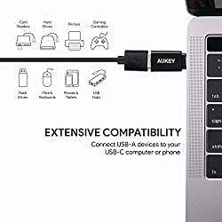 AUKEY Adaptateur USB C vers USB 3.1 ( OTG ) [Lot de 2] Adaptateur USB Type C vers USB A pour MacBook Pro 2018/2017/2016, Google Chromebook Pixelbook, Samsung Galaxy S9 S8 S8+ Note8, Google Pixel 2/2XL