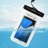 Funda Bolsa Móvil Impermeable, SAVFY® Universal 6 Pulgadas Certificado IPX8 (10m de Profundidad) para iPhone 6S 6 / 6S Plus SE 5S, Samsung Galaxy S6 S7 Nota 5 4, HTC LG Motorola Nokia Sony etc (Blanco)
