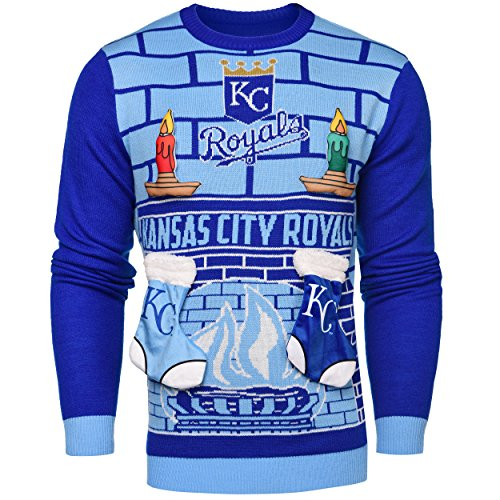 Forever Collectibles MLB 3D Ugly Pullover, Unisex, Kansas City Royals, Medium