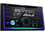 JVC KWDB93BT 2 DIN DAB inkl Antenne CD Bluetooth Spotify mit Einbauset für BMW 5er E39 1995-2000 Rundpin