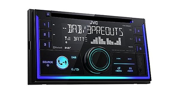 Jvc Kwdb93bt 2 Din Dab Inkl Antenne Cd Bluetooth Spotify Mit Einbauset Für Mitsubishi Mirage Space