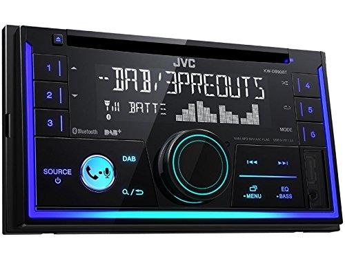 JVC KWDB93BT 2 DIN DAB inkl Antenne CD Bluetooth Spotify mit Einbauset für Jeep Grand Cherokee (WH) 2005-2007