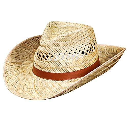 Cowboyhut Unisex 100{8877f04e732447f80d66a5be48c0d81a3a69ac313234493bea0fcc75f4947a17} Stroh Australier (60)