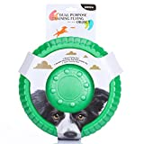 ZNOKA Fetching Frisbee Disc & Drinking Flying Disc Pets Toy EVA Flyer for Dog Puppy Play New Pet Toys (Small, Green)