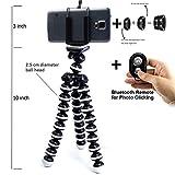 #2: Burgeon Gorilla Tripod / Flexible Mini Tripod 10 inch For Phone/DSLR Camera With Mobile Attachment ,Universal Mobile Lens Kit & Bluetooth Remote