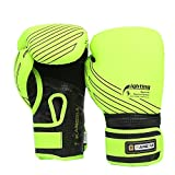 Guantoni da boxe Junior Kids & Adult Taglie Muay Thai Training in pelle Sparring Punching Bag, verde, 8 once