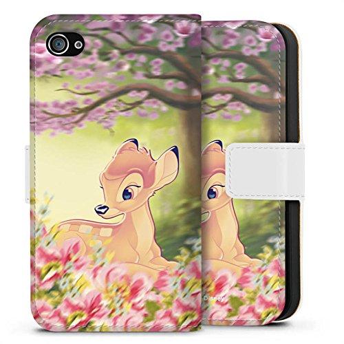 Apple iPhone 8 Plus Silikon Hülle Case Schutzhülle Disney Bambi Geschenke Fanartikel Sideflip Tasche weiß