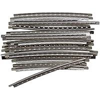 yibuy 2.2mm Plata Cobre Fret alambre para eléctrico Gutiars–Pack de 24