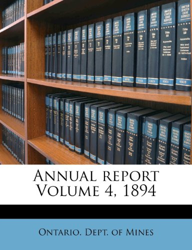 Annual report Volume 4, 1894