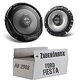 Lautsprecher Boxen Kenwood KFC-E1765-16cm 2-Wege Koaxialsystem Auto Einbausatz - Einbauset für Ford Fiesta MK7 Front Heck - JUST SOUND best choice for caraudio