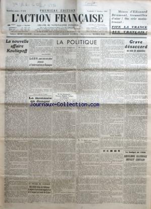 ACTION FRANCAISE (L') [No 274] du 01...