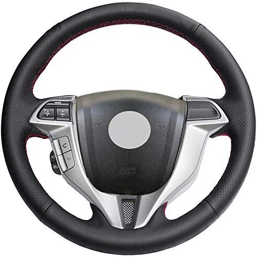 ZYTB Für schwarzes Auto Lenkradbezug für Honda Accord 8 Coupe 2008-2012 Crosstour 2010-2012 Odyssey,Cayenne Yellow Thread