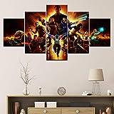 JWLSDT 5 Leinwandbilder Hd Print Mass Effect Spiel