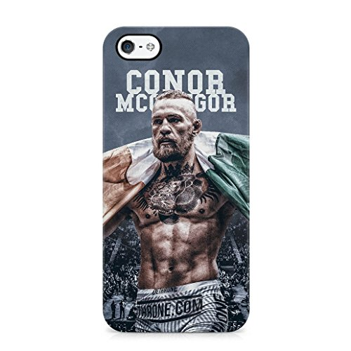 Conor McGregor UFC Fight MMA The Notorious Ireland Irish Fighter Phone Case Cover For iPhone 5 5S & SE - in BLACK