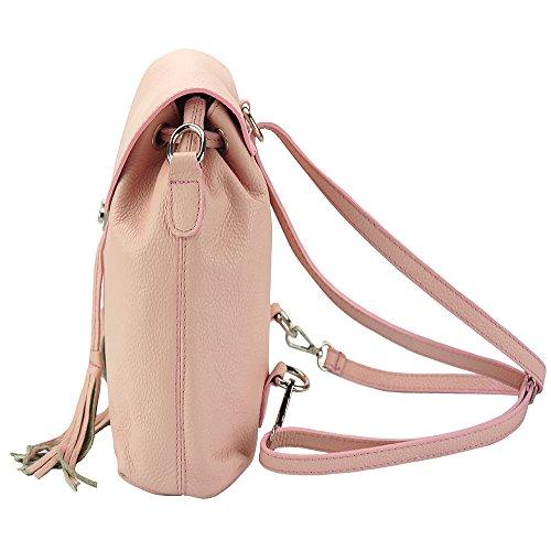 Rucksack multi-functional  Bougainvillea aus Kalbsleder- 9119 Pink