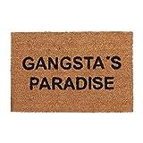 Relaxdays Fußmatte Kokos, Gangsta's Paradise, für Eingangsbereich, Haus, Garten, Schmutzfang Türvorleger 60x40 cm, Natur