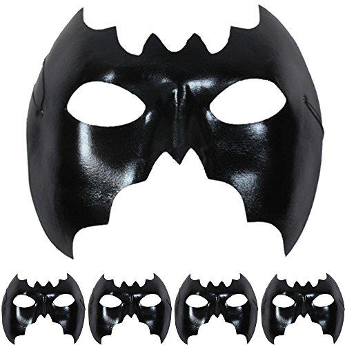 s Maske Karneval Fasching (5 Stück) (05 Stück - Fledermaus) ()