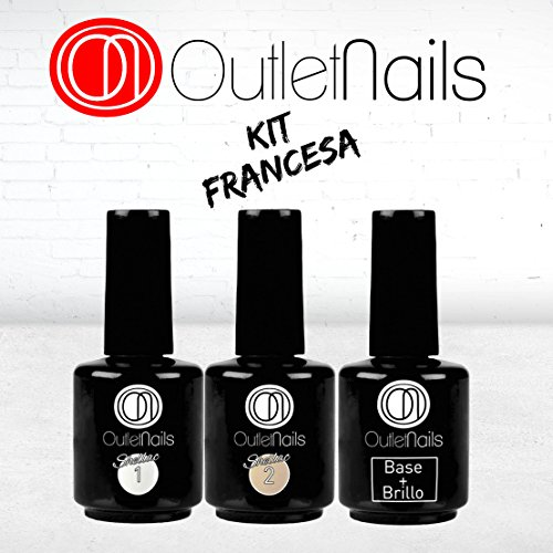 Pack Esmalte Permanente Manicura Francesa UV/LED -