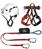 Climbing Technology Classic Kit Ferrata, Casco con Imbrago Set,