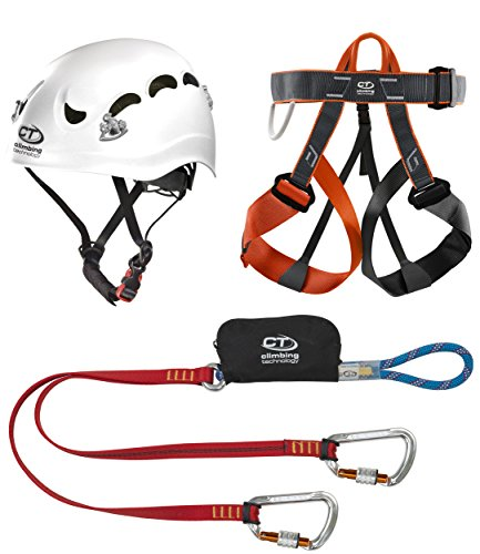 Climbing Technology Classic Kit Ferrata, Casco con Imbrago Set