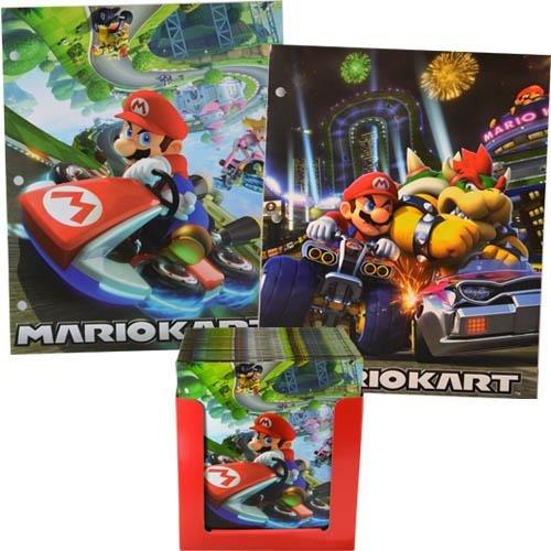 Nintendo Super Mario Kart Ordnungsmappe mit Taschen, 3-Ring-Ordner, 4 Stück