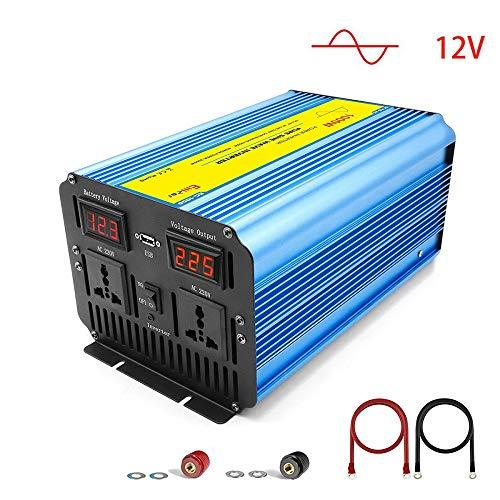 Inverter Onda Sinusoidale Pura 1000W, Trasformatore DC 12v in AC 220v AC 230v AC 240v di Potenza Convertitore, Porta USB, LCD Display Invertitore di Potenza
