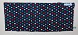 Wärmekissen Körnerkissen Dinkelkissen Sterne bunt auf blau ca. 50x20cm