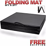 MAXSTRENGTH Folding Thick Gym Exercise Fitness Floor mat. Made from Thick EPE Poly Foam Layer which is 5cm Inches thick to provide best shock absorb support. It comes with double easy to carry handles, making it very easy to move and carry. It can be...
