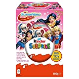 Kinder Surprise Giant Egg 100g Pink Blue Kinder Surprise Dc Super Hero Girls Kinder Surprise Eggs Transformers and DC Comics Easter Egg Collection (Packaging may vary) (Pink)
