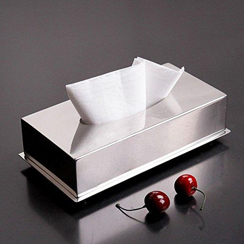 SASA Edelstahl Mesa Tissue-Box Serviettentablett KTV Büro Esstisch -