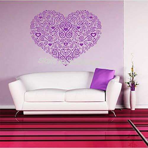 aufkleber Romantische Spirale Liebe Herz abnehmbare Abziehbilder Mädchenschlafzimmerwohnzimmer Hochzeitwohnkultur 56 * 45 cm ()