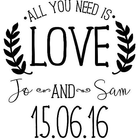 Personalizado boda sello–todo lo que necesitas es amor