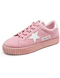 Sneakers rosse con stringhe per donna Vinstoken