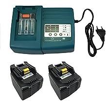 sustituir para herramienta eléctrica batería 2x Makita BL1430BL144014.4V 4000mAh cargador & 1x MAK de CH01Módulo de Ni-Cd Ni-MH 7.2V de 18V DC18RA DC18SC dc1803dc14sa DC1804Makita Ion de litio BL1430BTD132RFE btd132z BTS130Z BFR540RFE BFS450RFE BCL140Z BHR162Z bhp442z BML145BTP130Z BTW250Z BUB142Z BML184BHP440RFE BDF440RFE BTW250RFE BTD133RFE.BTD130FRFE btd135rhe BTS130RFE BGA450RFE BDF444RFE BDF444Z BHP444RFE BHP444Z BDA341RFE bhp343BDF343BDF343RHE bdf446BTD130FZ