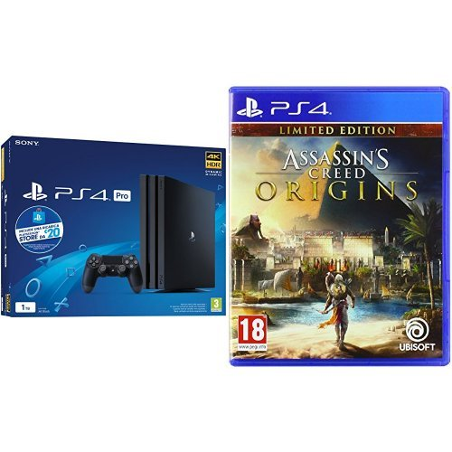 PS4 PRO + PS Live Card 20 + Assassin's Creed Origins - Limited Edition [Esclusiva Amazon] - PlayStation 4 [Bundle]