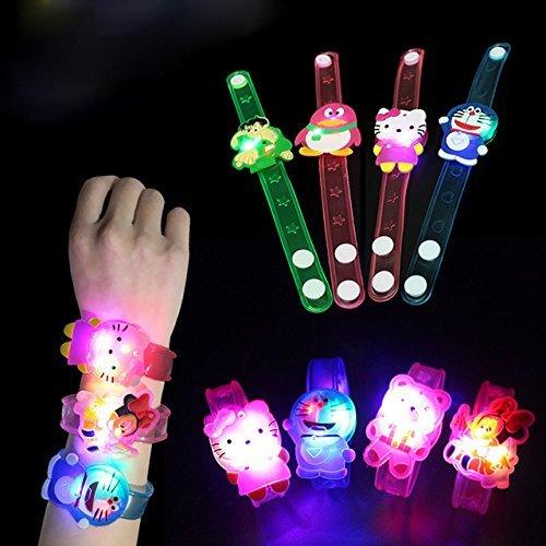 Jiada Cartoon Characters LED Light Bracelets Return Gifts For Kids Set Of 24 Assorted