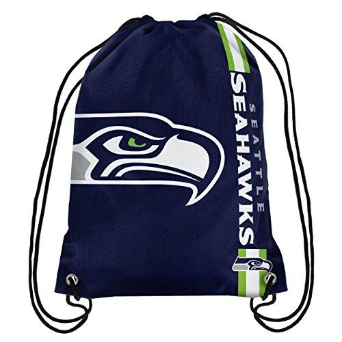 Logo Drawstring Taschen (NFL 2015Fußball Team Logo Seite Streifen Rucksack, grün (Grün) - BPNF15DSSS)