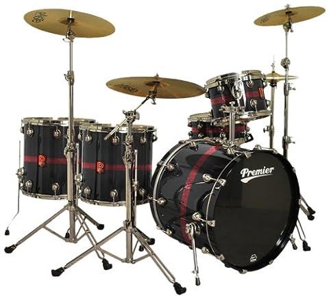 Premier Drums Genista Series 43299-45BRX 5-Piece Birch Heavy Rock 22 Shell Pack in , Drum Set (Blaze Sparkle