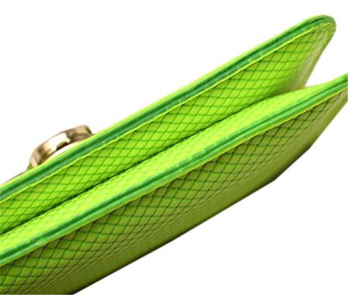 Donna Tessere Leggera Tempo Libero Borse Messenger Borse A Mano, Verde Verde