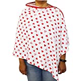 #10: Kadambaby - Premium Nursing Cover / Breastfeeding Poncho / 100% Cotton - Red Heart. Stylish Nursing poncho / can be used as Stole/Scarf