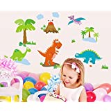 Ascent Decals 'Dinosaur' In Jungle Wall Sticker For Kids Room Bedroom (Vinyl 130 Cm X 70 Cm)