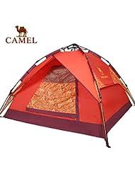 engranaje al aire libre camello automática al aire libre tienda de campaña de la persona 3-4 tiendas de campaña doble impermeable establecerse gratuitamente