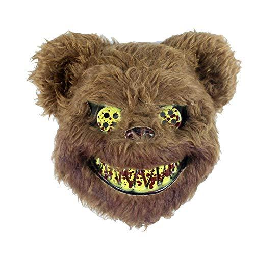 Bär Der Leuchtende Kostüm - BONNIO Halloween Kostüm Party Scary Horror Bär Filz Maske Dekorationen Requisiten Heikle Maske
