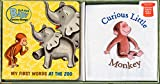 Curious Baby My First Words at the Zoo Gift Set (Curious George Book & T-Shirt) (Curious Baby Curious George)