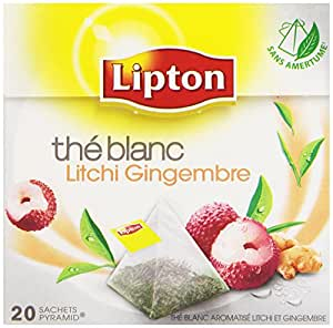 Lipton Thé blanc Lipton Litchi Gingembre 20 sachets