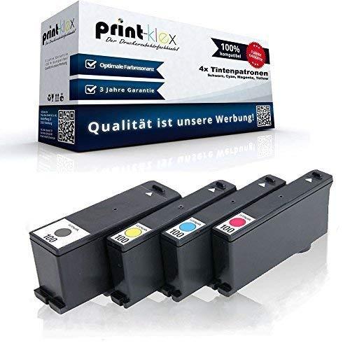4x Kompatible Tintenpatronen für Lexmark S400 Series S500 Series S600 Series S800 Series Genesis S815 Genesis S816 Impact S301 Sparset (Black + Cyan + Magenta + Yellow) 100 XL 100XL (Lexmark Patrone Xl 100)