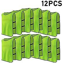 12pcs Petos de Entrenamiento Petos de Fútbol para Adultos (Color : Verde)