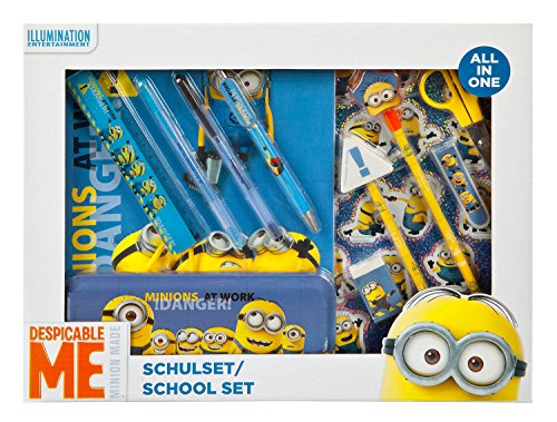 Under Cover Oggetti Scolastici: Postmanbag Amici Minions Schulset All in One